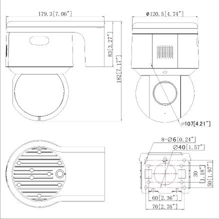 DS-2DE3A20IW-D/GLT/XM外形尺寸