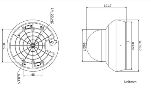 DS-2DE2D40IW-D3/W/XM外形尺寸