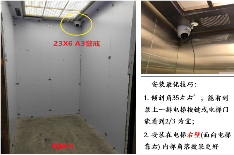 电梯智能警戒摄像机安装