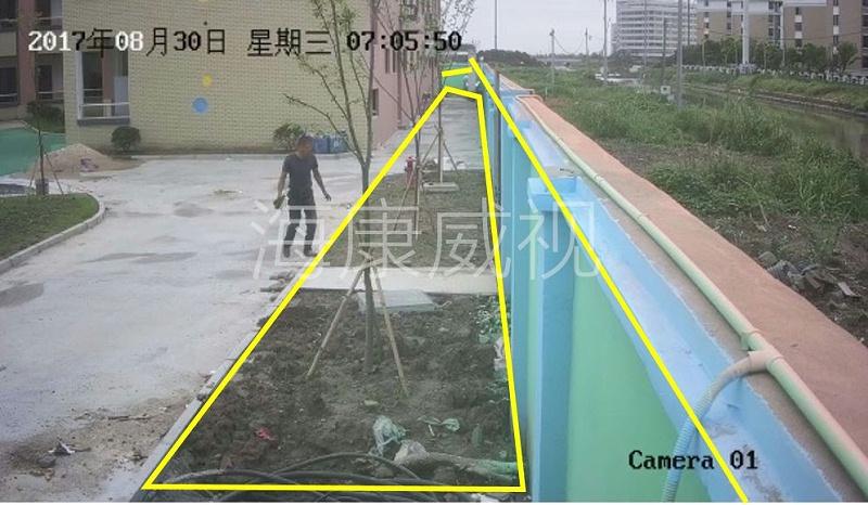 海康威视智能警戒摄像机划线