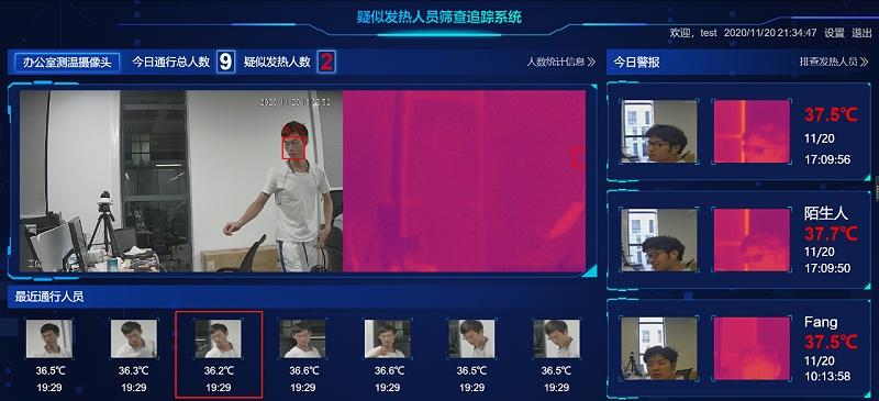 人脸测温系统管理平台应用
