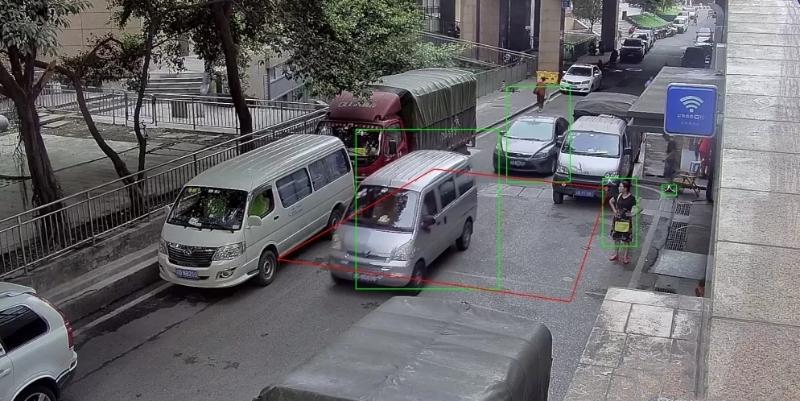 4K摄像机智能人车识别